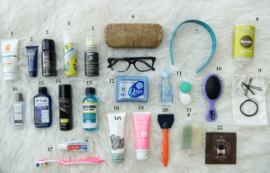 travel toiletries - things to carry along when on a trip